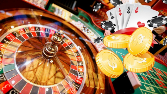roulette, chips, cards